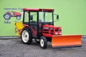 traktorek komunalny Shibaura 19KM 4x4 kabina pług