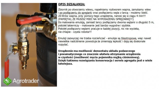 AGREGAT MALARSKI BIELARKA DO WAPNA DO BIELENIA WAPNEM F VAT - zdjęcie 4