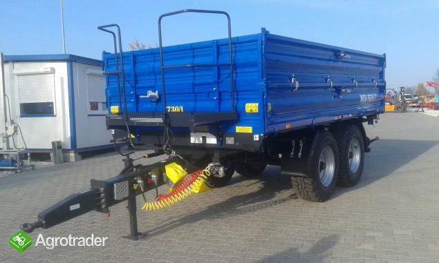 Przyczepa rolnicza ciężarowa firmy Metal-fach T730/1 8T - zdjęcie 4