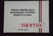 Katalog  części zamiennych do prasy SIPMA