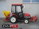 traktorak Yanmar F7 z kabiną oraz pługiem do śniegu + rozsiewacz