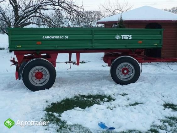 Przyczepa rolnicza ciężarowa 5 ton HL 6011 jak nowa OKAZJA wywrotka  - zdjęcie 1