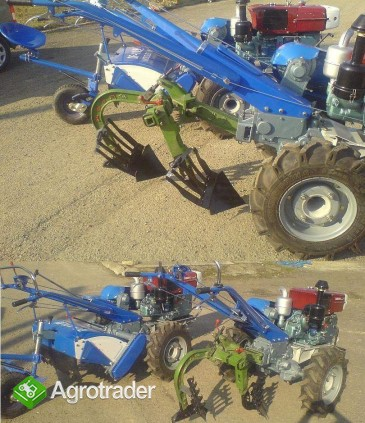 Ciągnik jednoosiowy, traktor z glebogryzarką  24 KM, silnik Diesla - zdjęcie 1