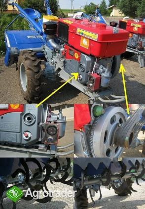 Ciągnik jednoosiowy, traktor z glebogryzarką  24 KM, silnik Diesla - zdjęcie 2
