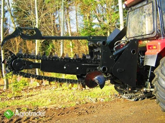 Koparka łańcuchowa napędzane z ciągnika rolniczego 220 cm - zdjęcie 2