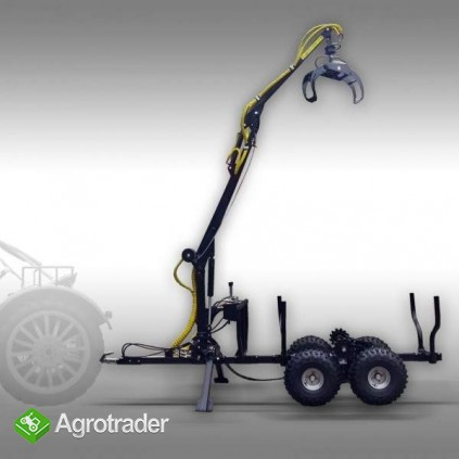 Wóz do przewozu drewna z HDS załadunkowym, max nośność 1,5 T - zdjęcie 3