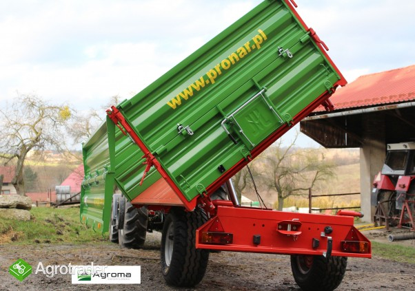 Wywrotka rolnicza Pronar T 654/1 przyczepa jednoosiowa 3,5t - zdjęcie 2