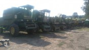 Czesci John Deere 975,1075,970 silnik,skrzynia,heder kola pasowe,sita