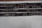 Naklejki emblematy maski ZETOR 9145 1211, 7245, 7745