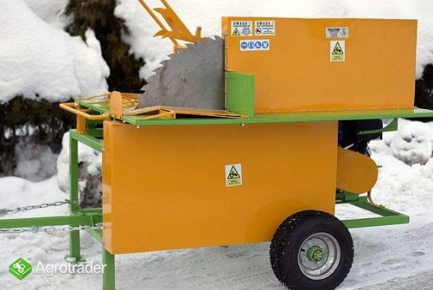 PIŁA stołowa poprzeczna spalinowa do drewna opałowego: silnik 15KM - zdjęcie 1
