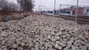 Kostka bazaltowa granitowa 10 x 10 starobruk / Koluszki