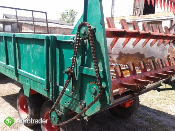 Rozrzutnik obornika tandem 6 ton - zdjęcie 2