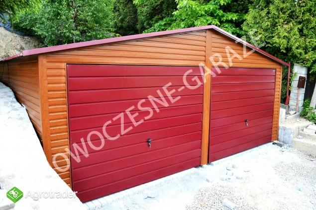 GARAŻE BLASZANE imitacja drewna Nowość Garaż blaszany dowolny wymiar  - zdjęcie 3