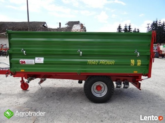 Przyczepa rolnicza 5 t jednoosiowa PRONAR T654/2