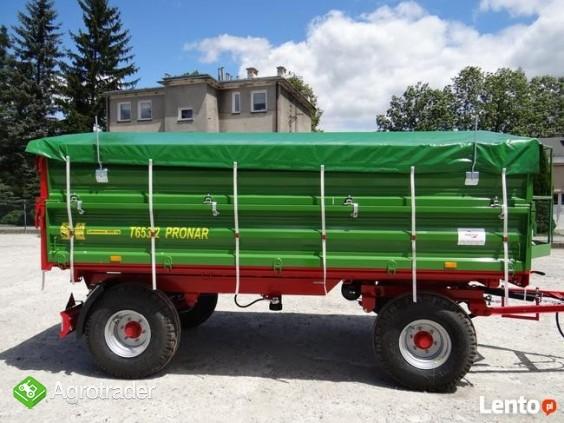 Przyczepa rolnicza 6 t PRONAR T 653/2 od ręki wyprzedaż - zdjęcie 4