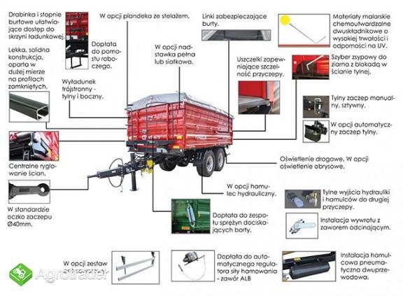 Przyczepa rolnicza Metal-Fach T730/2 – 10t - zdjęcie 3