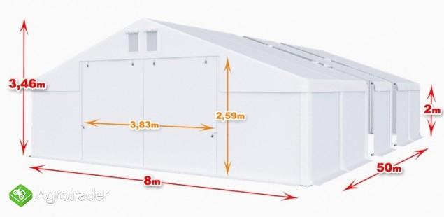 Całoroczna Hala namiotowa 8m × 50m × 2m/3,46m