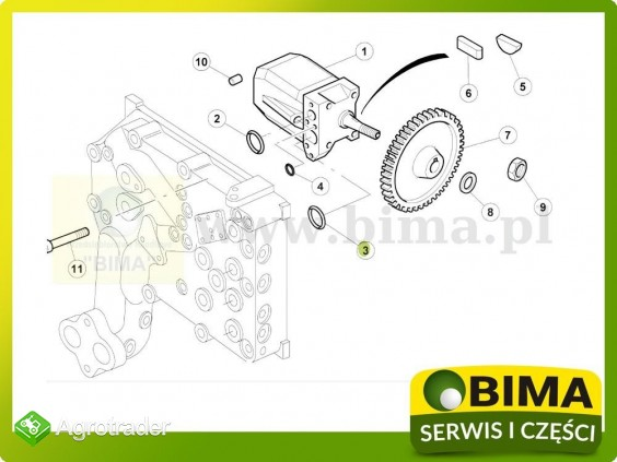 Oring pompy hydraulicznej Renault CLAAS Axion 850 - zdjęcie 1