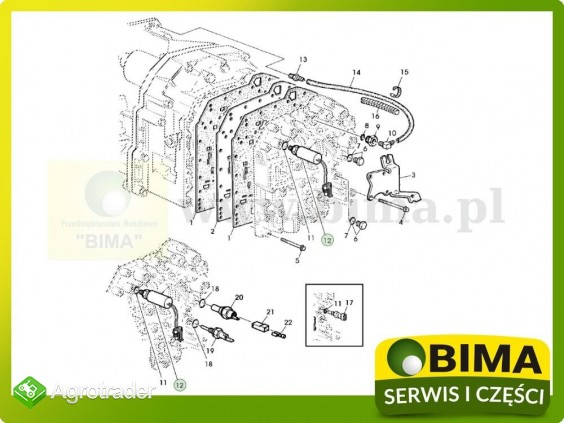 Czujnik ciśnienia oleju przekładniowego John Deere 6095MC - zdjęcie 1