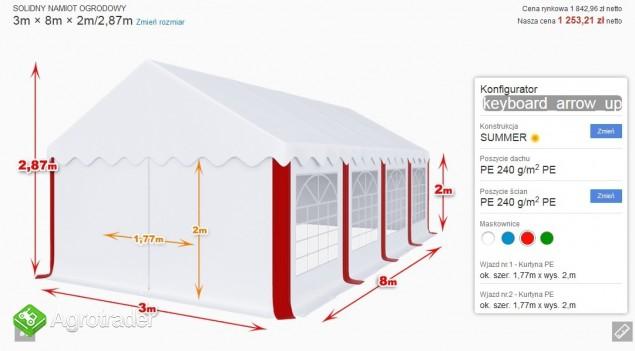 Hala namiot weselny reklamowy biesiadny nowy 3x8x2 mtbtent.pl! - zdjęcie 4
