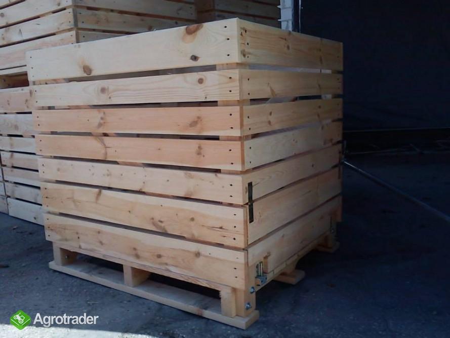 Modernistyczne Skrzyniopalety drewniane na owoce i warzywa rożne wymiary Secemin FA15